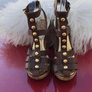 Michael kors amazing sandals brown leather